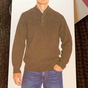 Eddie Bauer Men's Quarter Button Sweater XL